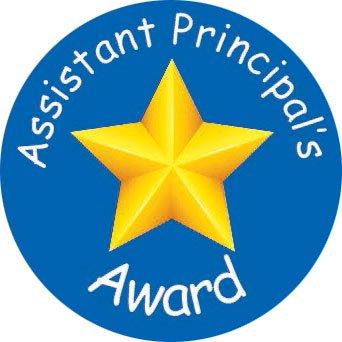 Laser printed Assistant Principal award stickers