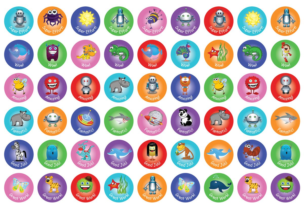 Assorted 20mm Reward stickers