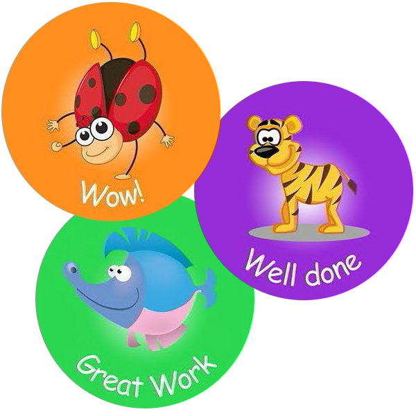 Assorted round - Teacher Stickers