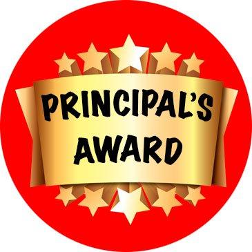 Laser printed Principal's award stickers