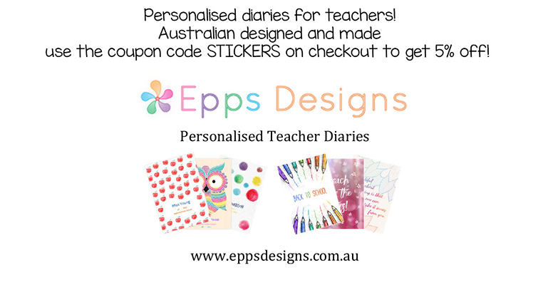 Epps Designs - Personalised Teacher Diaries