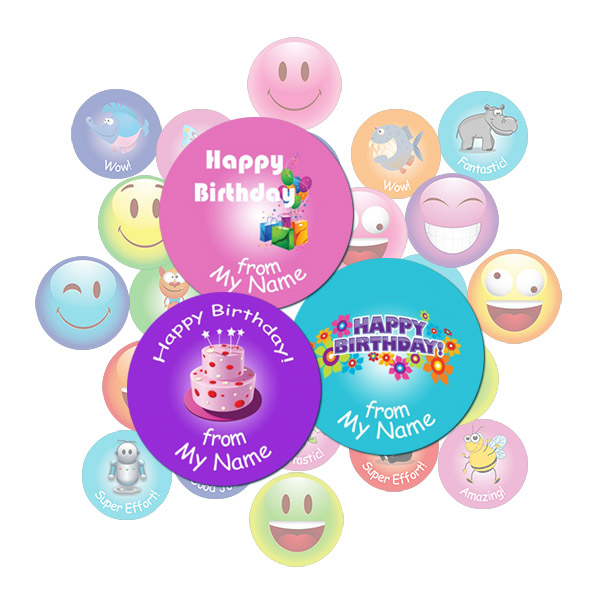 Birthday Round Sticker Gift Pack