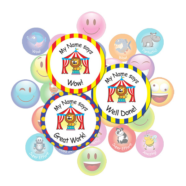 Circus round sticker gift pack