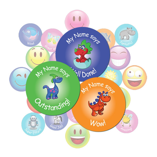 Round Dinosaur Sticker Gift Pack
