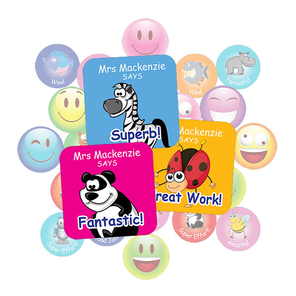 Assorted Square Sticker Gift Pack