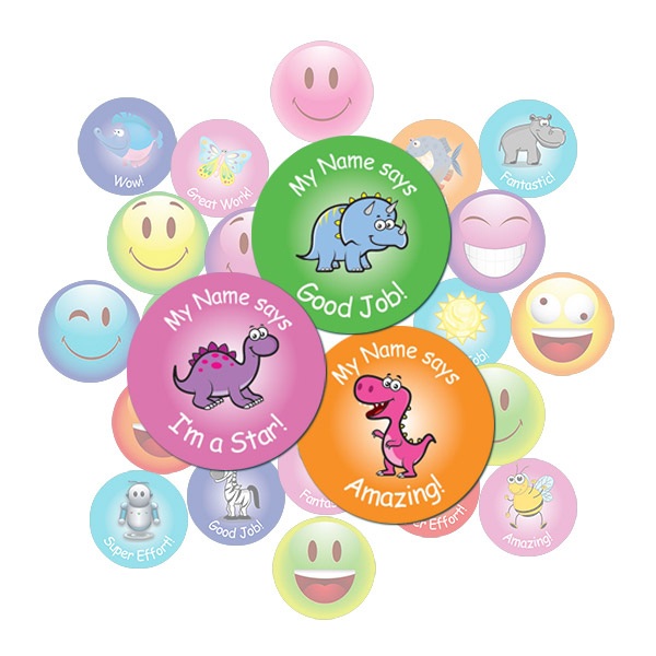 Cute Dinosaur Round Sticker Gift Pack