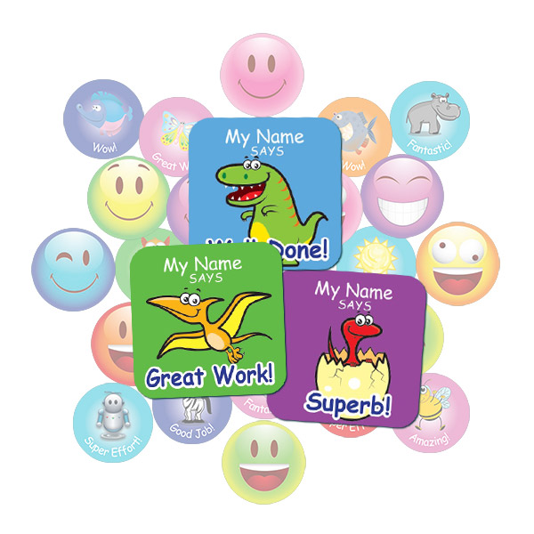 Cute Dinosaur Square Sticker Gift Pack