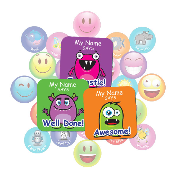 Cute Monster Square Sticker Gift Pack