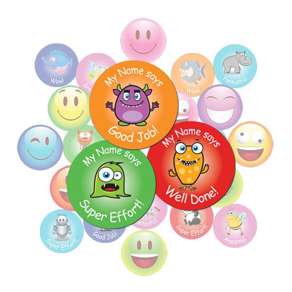 Cute Monster Round Sticker Gift Pack