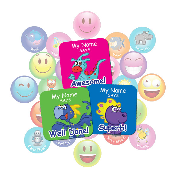 Dinosaur Square Sticker Gift Pack