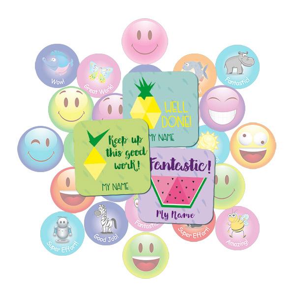 Geometric Fruit Square Sticker Gift Pack