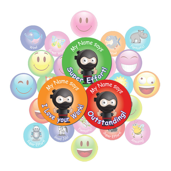 Ninja Round Sticker Gift Pack