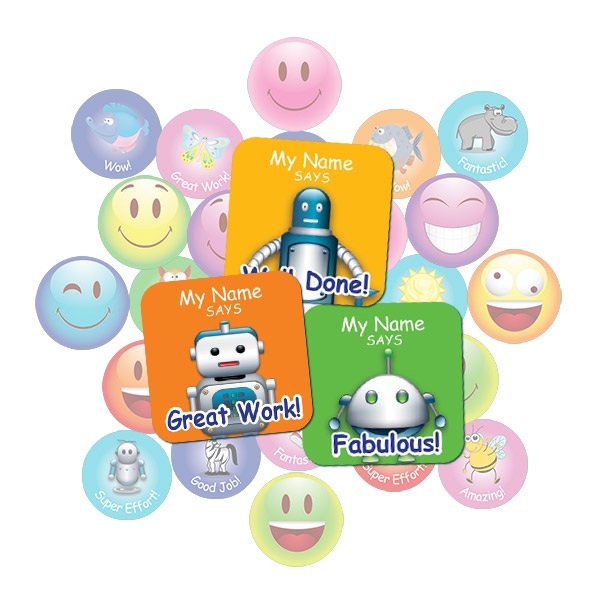 Robot Square Sticker Gift Pack