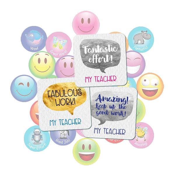 25mm Square Speech Bubble sticker gift pack