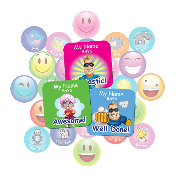 Super Hero Square Sticker Gift Pack