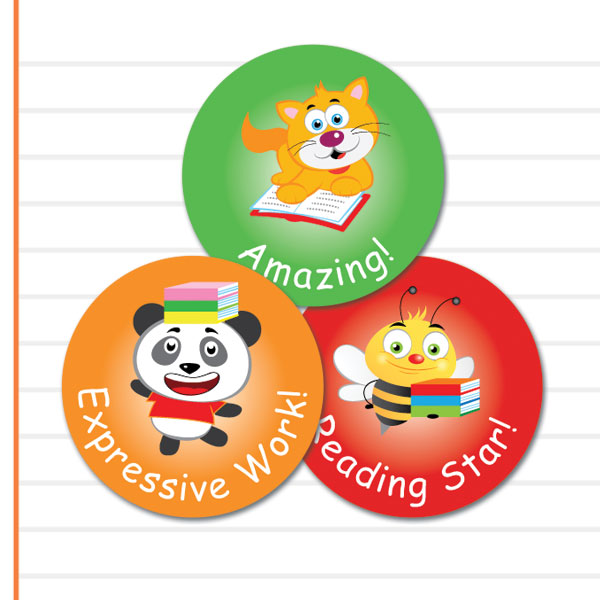 Round Reading stickers from Teacher Stickers