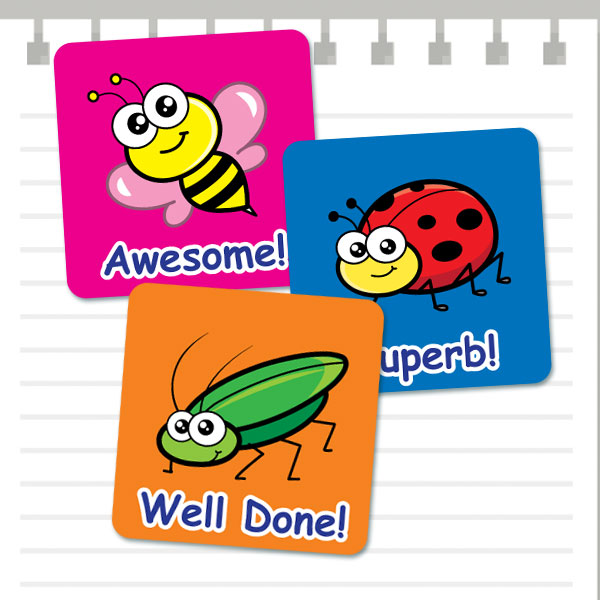 Cute Insect Theme stickers from Teacher Stickers