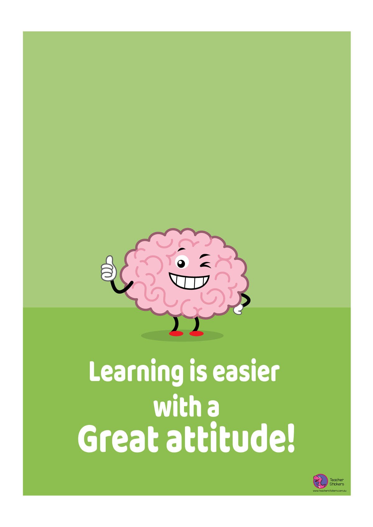 Growth Mindset Poster - Learning is easier with a Great Attitude