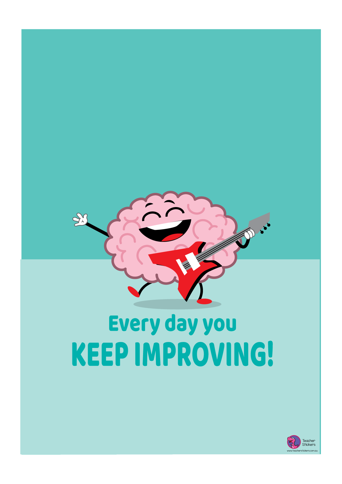 Growth Mindset Poster - Every Day You Keep Improving