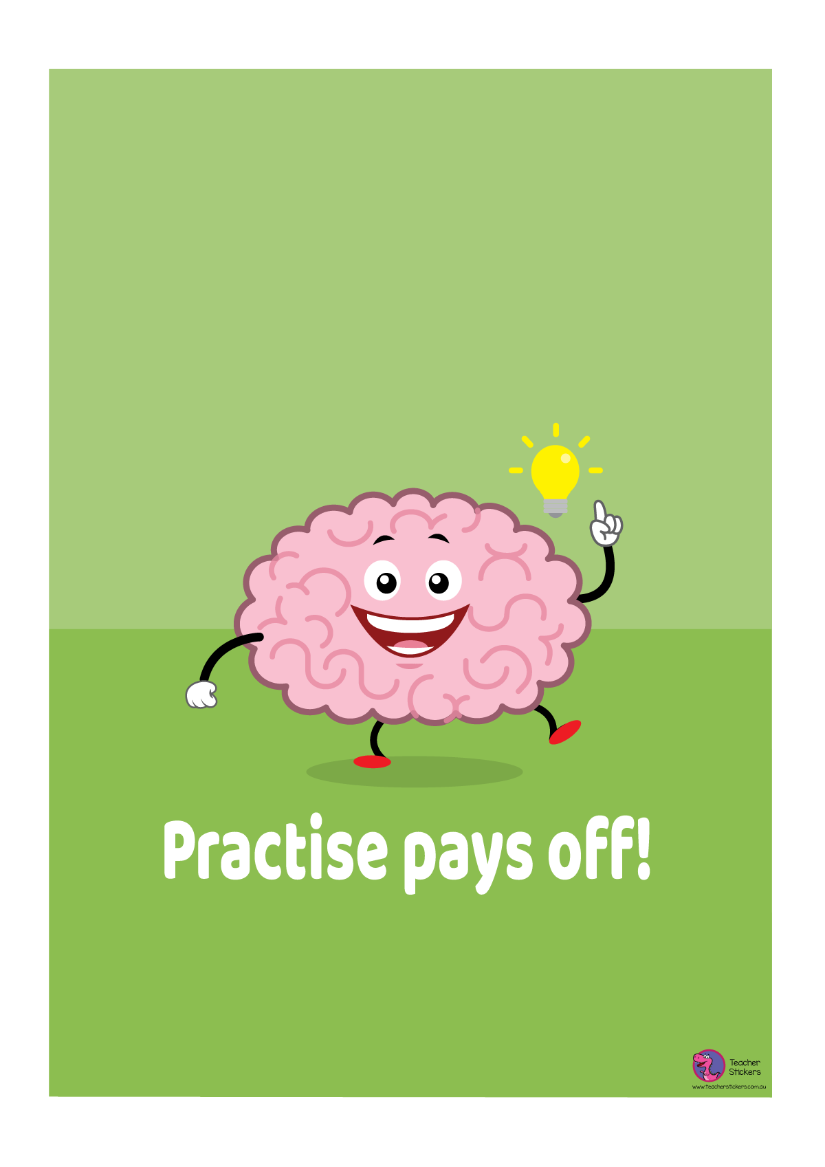 Growth Mindset Poster - Practise Pays Off