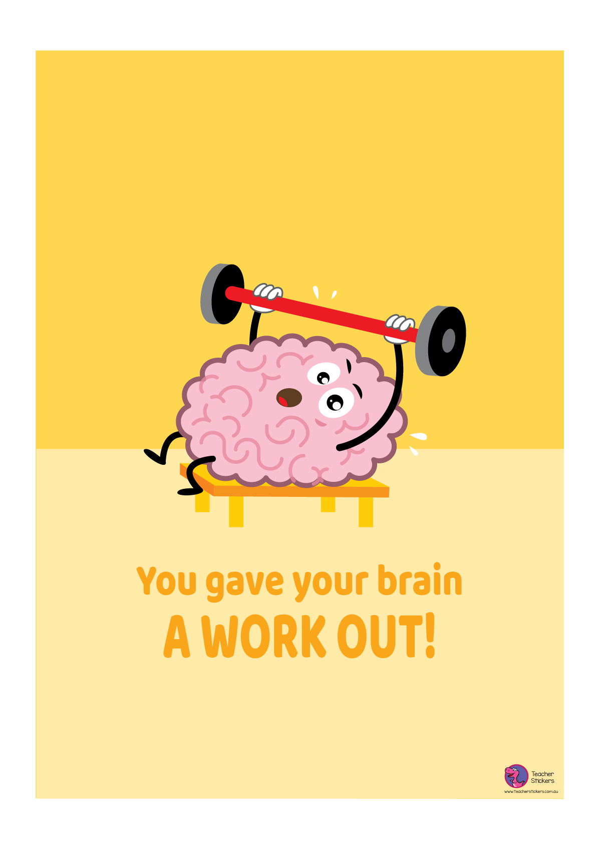 Growth Mindset Poster - You Gave Your Brain a Workout