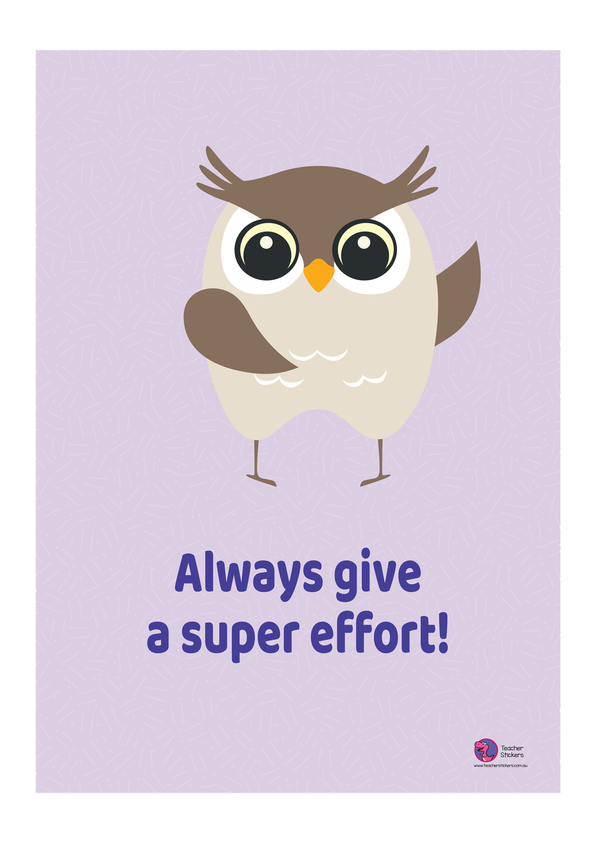 Owl-Poster-Always-give-a-super-effort