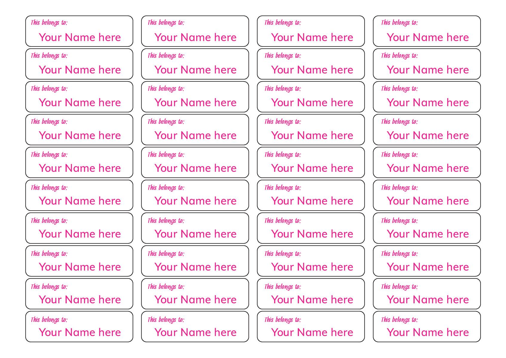 name labels coloured text teacher stickers australia