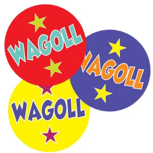WAGOLL - What a good one looks like. 30mm stickers from Teacher Stickers