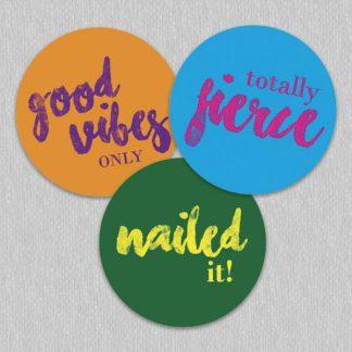 Cool Slang teacher reward stickers
