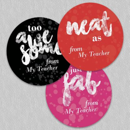 round cool slang stickers personalised name - bubble background