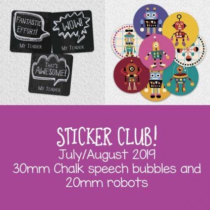 Sticker Club by Teacher Stickers July 2019