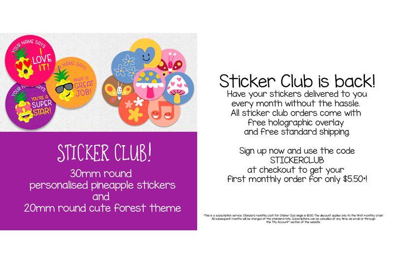 Sticker Club August September 2019 From Teacher Stickers
