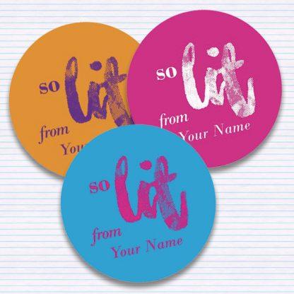 So Lit stickers by Teacher Stickers