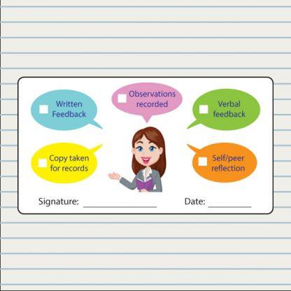 feedback record stickers - speech bubbles