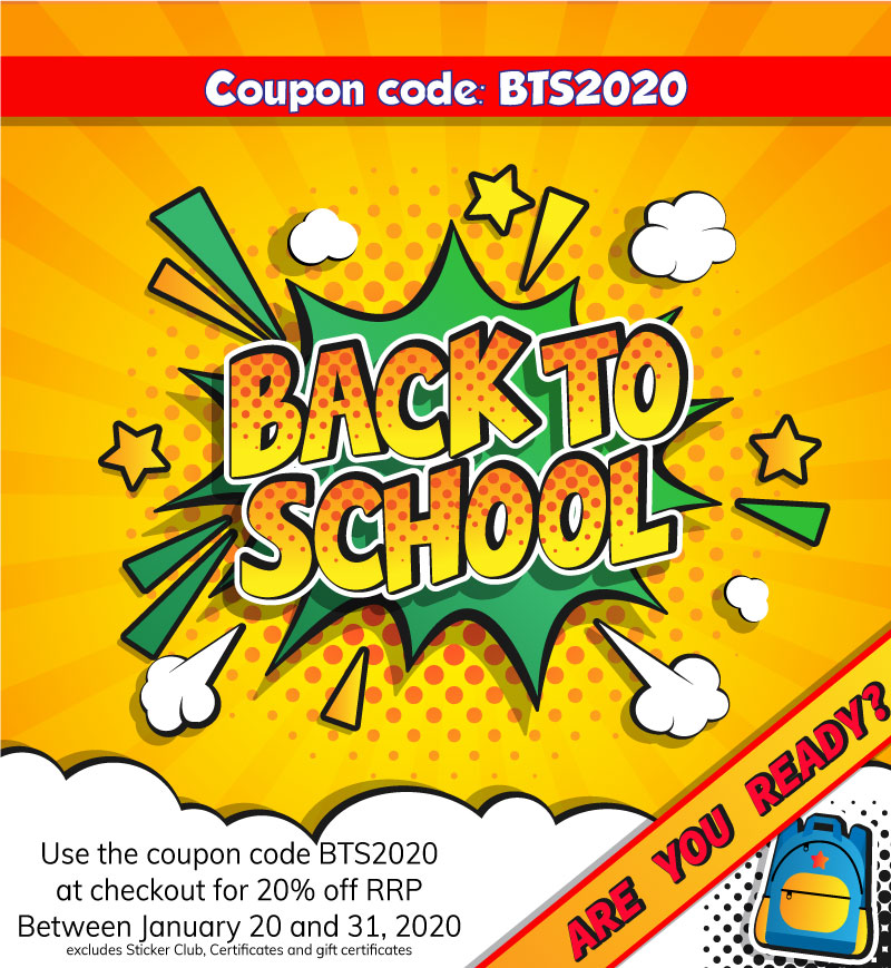 Back to School sale January 2020