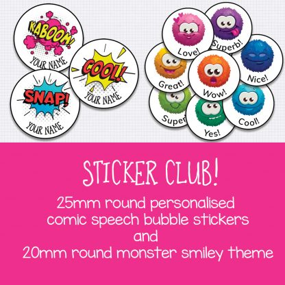 Sticker club January and February 2020