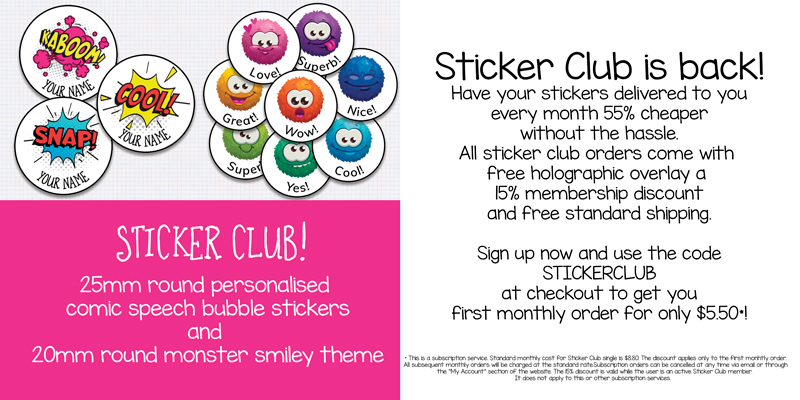 Sticker Club January 2020