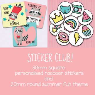 sticker club February and March 2020