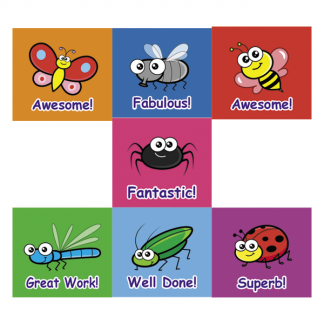 insect themed virtual classroom stickers