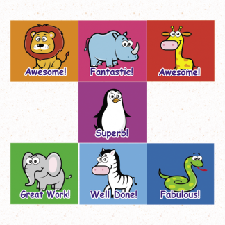 zoo themed virtual classroom stickers
